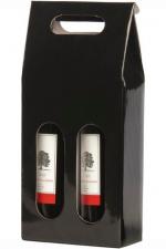 Cadeaubox voor 2 flessen met venster