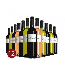 """Mixdoos """"scherven brengen geluk-wijn"""" 12"""