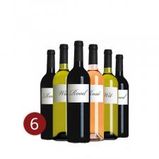 """Mixdoos """"scherven brengen geluk-wijn"""" 6"""