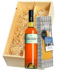 Wijnkist met Alvear Moscatel & Gooische Pikante Kaas