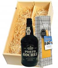 Wijnkist met Rochez Tawny Port & Gooische Pikante Kaas