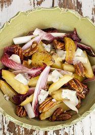 Salade van nieuwe aardappel en gorgonzola