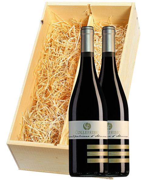 Collefrisio Montepulciano d'Abruzzo 2 flessen in houten kist