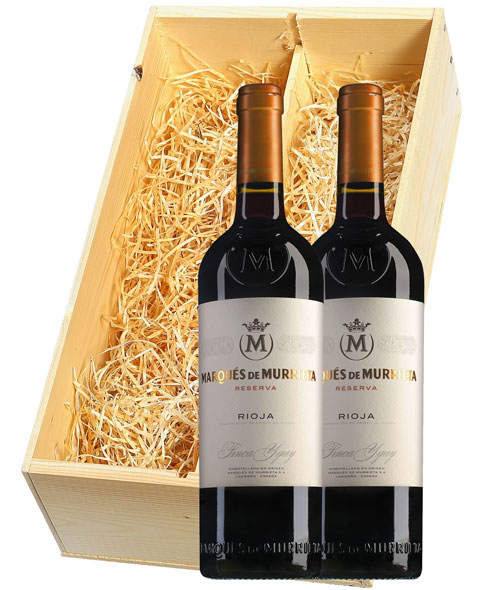 Marqués de Murrieta Rioja Finca Ygay Reserva 2 flessen in houten kist