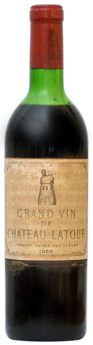 Château Latour Grand Vin Pauillac Premier Grand Cru Classé 1969