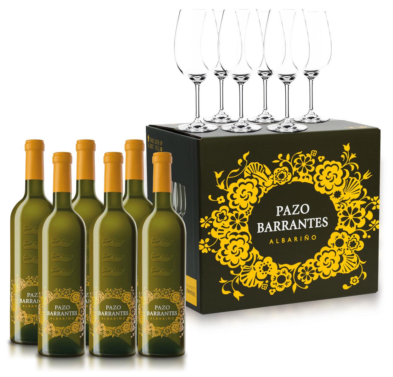 Pazo Barrantes Albariño & Schott Zwiesel glazen (set van 6) Marqués de Murrieta