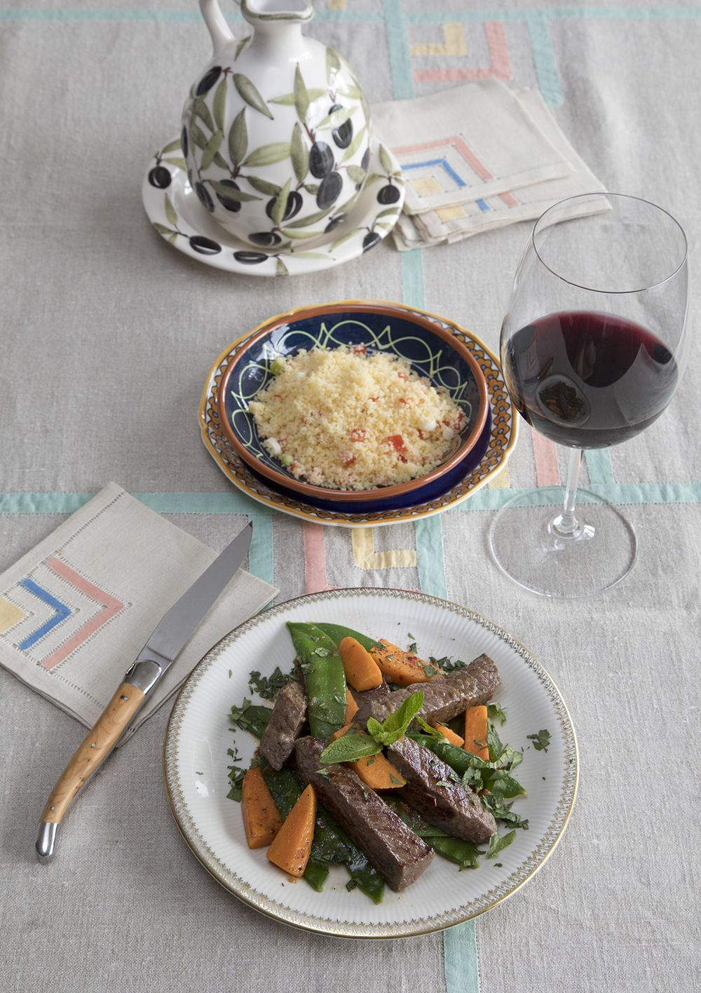 Biefstuk met Marokkaanse kruiden