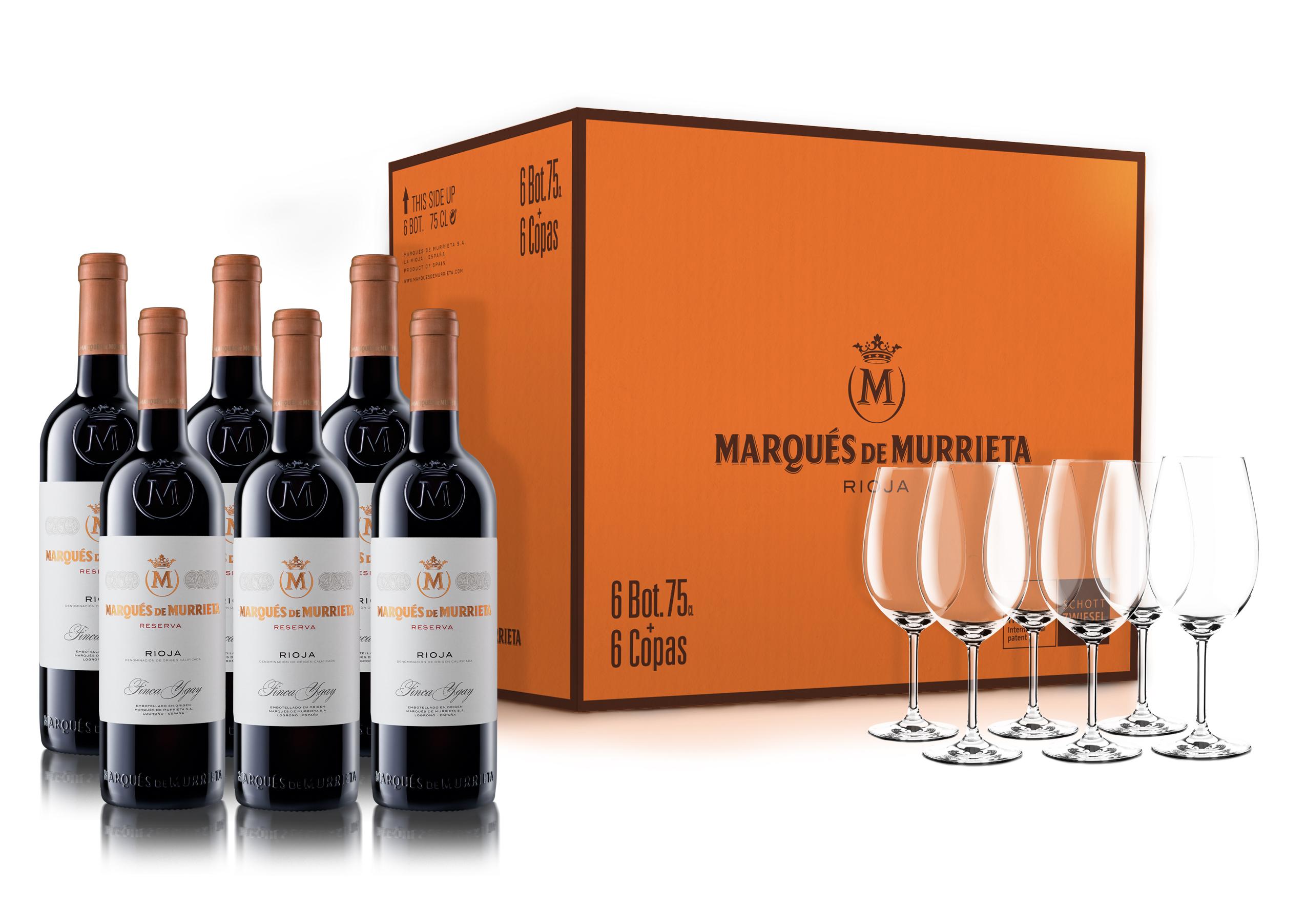 Marqués de Murrieta Reserva & Schott Zwiesel glazen (set van 6)