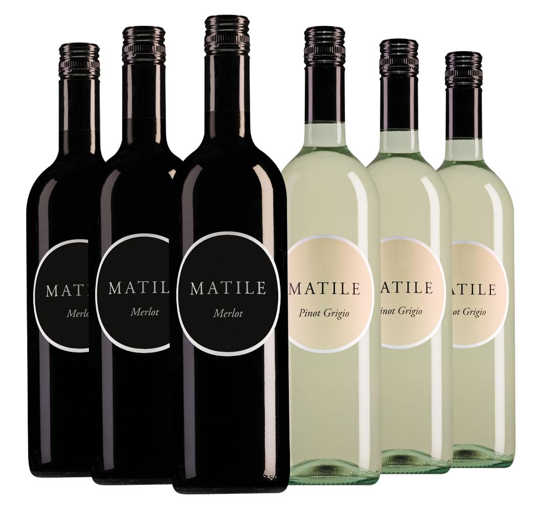 Wijnpakket Matile (2x3 flessen)