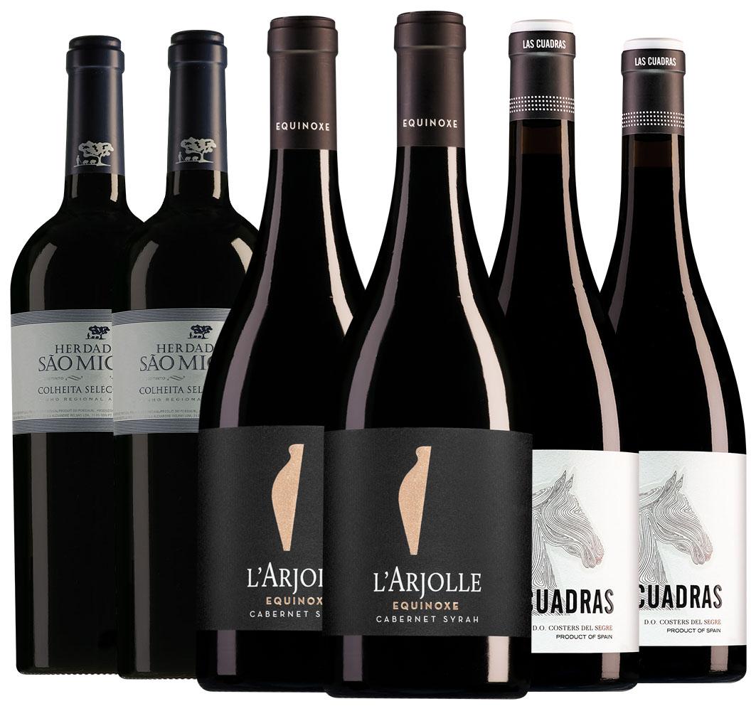 Wijnpakket wildwijnen (3x2 flessen)