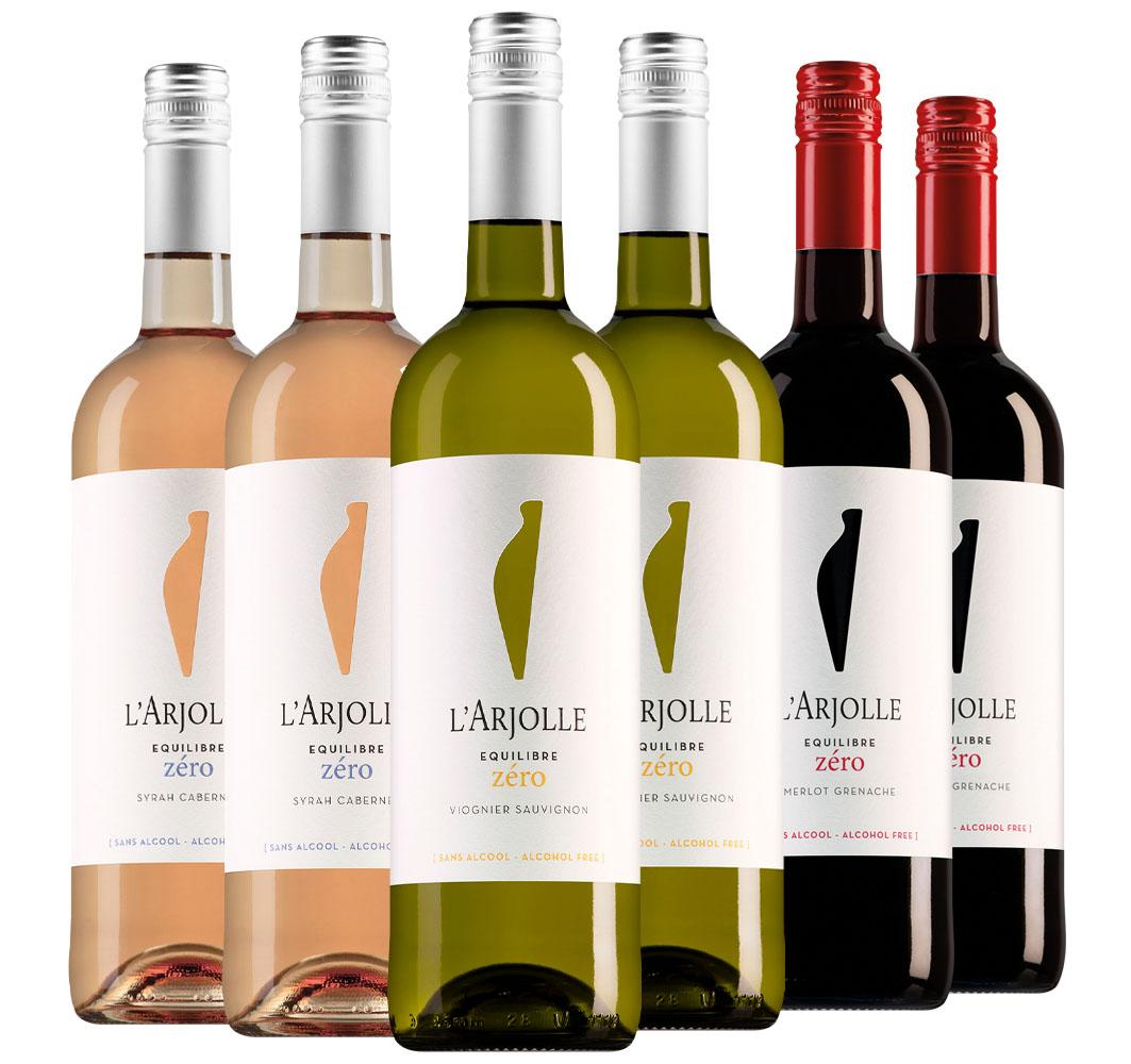 Wijnpakket Arjolle Zéro (3x2 flessen)