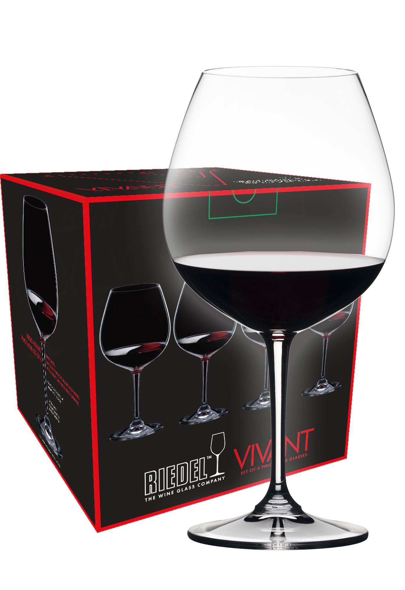 Riedel Vivant Pinot Noir wijnglas (set van 4 voor € 29,50)