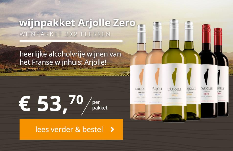 arjolle zero wijnpakket