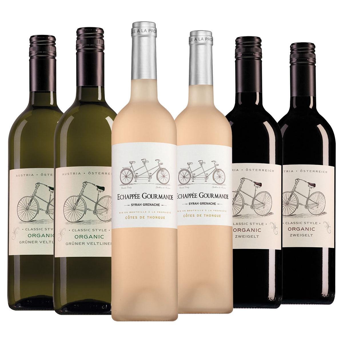 Wijnpakket ''Wijnen om voor om te fietsen met Wietze