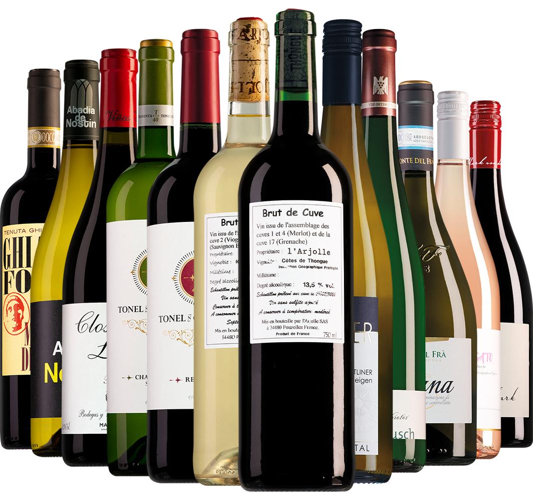 Wijnpakket Wijnbericht april (12 flessen)