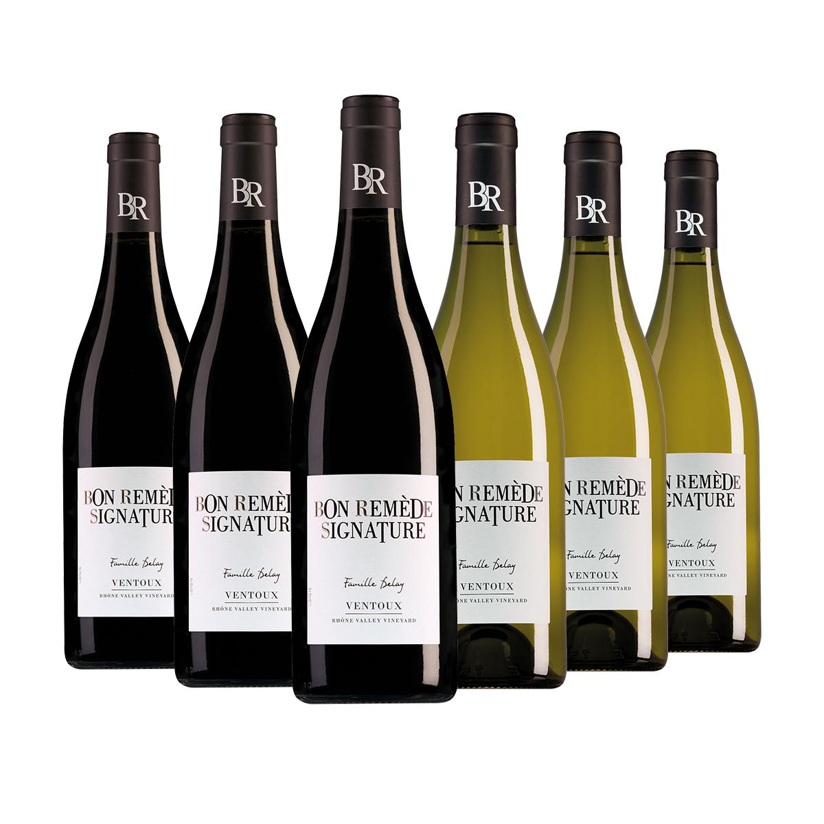 Wijnpakket Bon Remède 3 rood en 3 wit