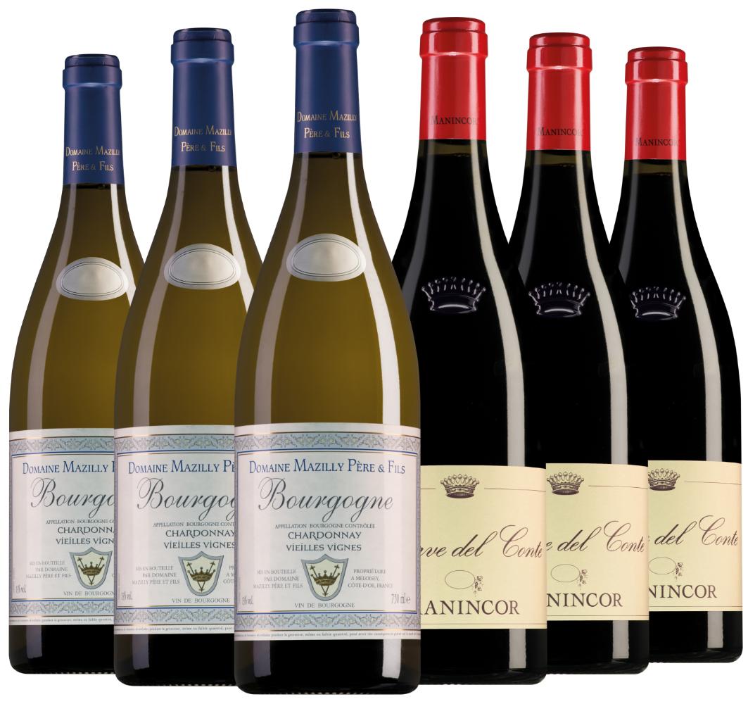 Wijnpakket bijzondere wijnen juli (2x3 flessen)