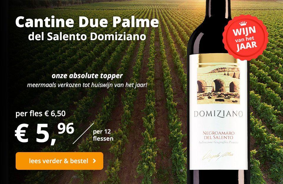cantine due palme wijn van het jaar banner
