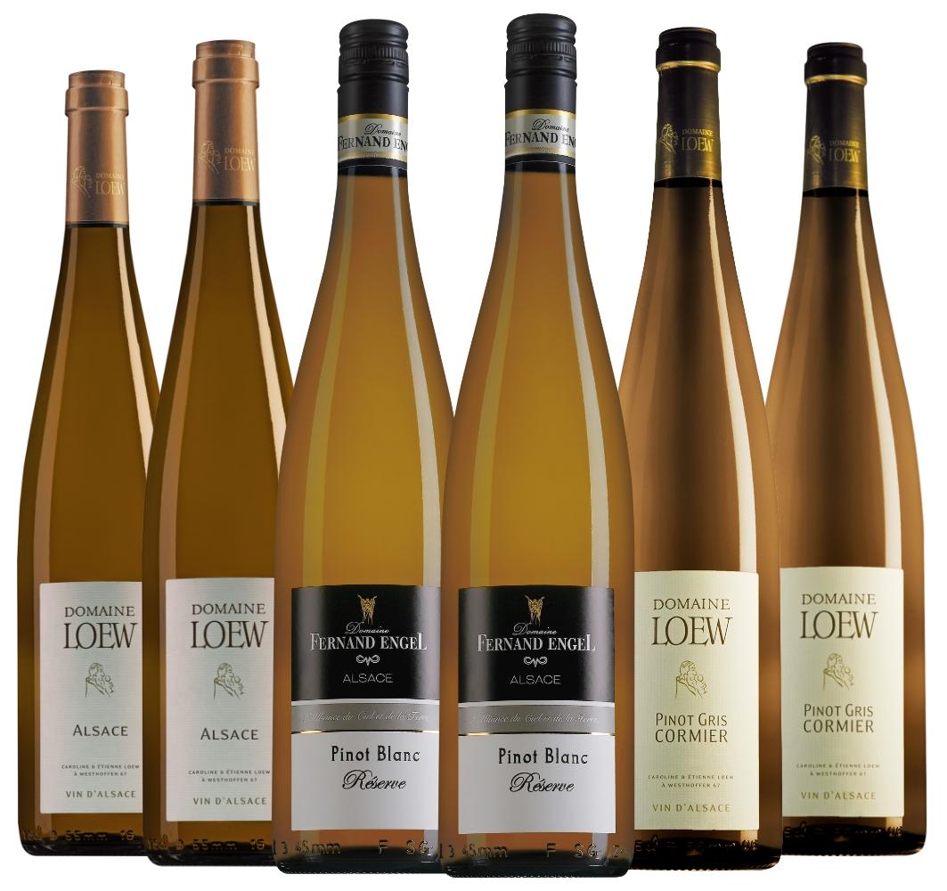 Wijnpakket Elzas (3x2 flessen)