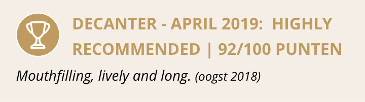 Decanter - april 2019: Highly recommended 92/100 punten